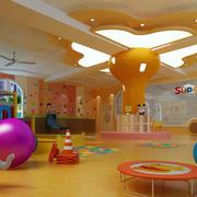 幼儿园简约风格吊顶装饰