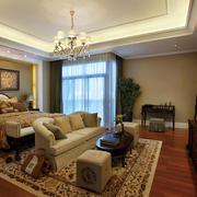 120平米房屋美式卧室吊顶装饰