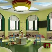 幼儿园圆形大射灯装饰