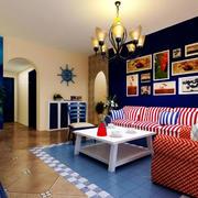 地中海客厅背景墙装饰