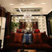 三室一厅客厅沙发效果图