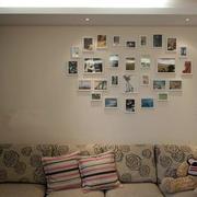 简约风格客厅照片墙效果图