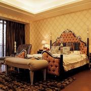 卧室卧室奢华床饰装饰