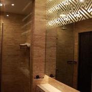 中式四合院卫生间镜饰装饰