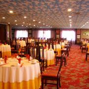 中式简约风格饭店大厅吊顶装饰
