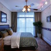 1200平米房屋卧室背景墙装饰
