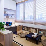 日式简约风格榻榻米房间窗户装饰