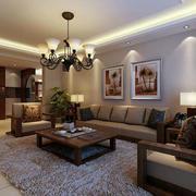 简约风格客厅简欧风格地板装饰