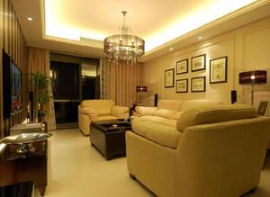 美式客厅样板房装饰