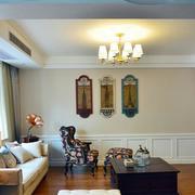中式简约风格客厅沙发效果图