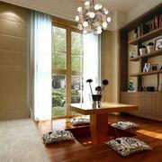 日式简约风格书房灯饰设计