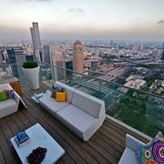 高层露台沙发设计