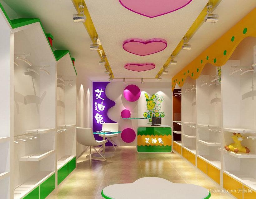 这里是孩子们的世界:韩流都市童装店装修效果图鉴赏大全