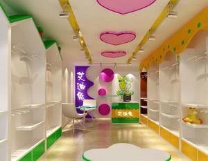 儿童服装店简约吊顶设计