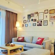 日式现代化客厅照片墙装饰