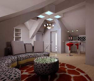 合理利用空间:现代简约风格顶楼跃层装修效果图