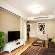 120平米房屋客厅电视柜装饰