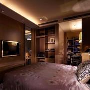 后现代风格酒店卧室电视背景墙