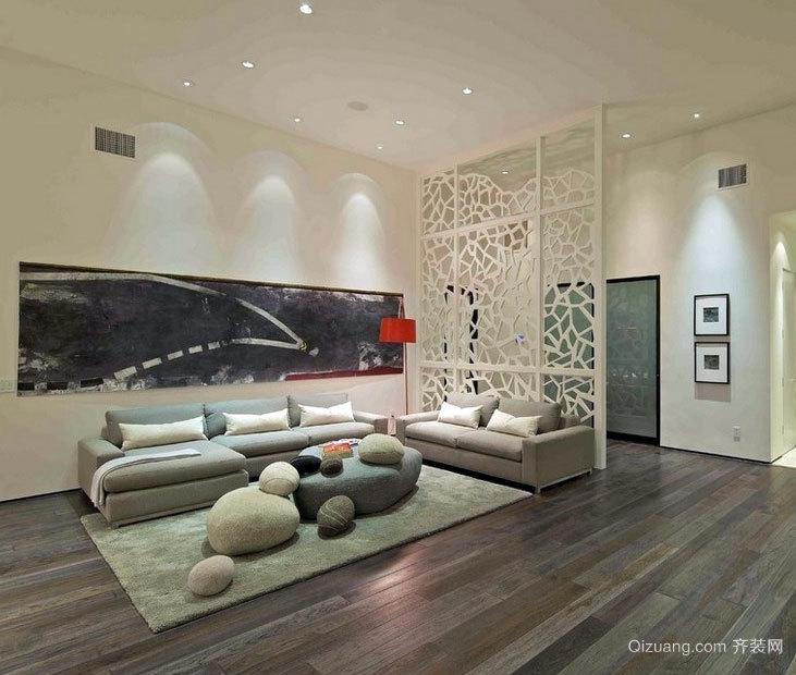 展现现代奢华生活:大户型欧式客厅屏风隔断装修效果图大全