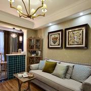 两室一厅简约风格沙发背景墙
