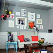 美式混搭风格照片墙装饰