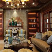 欧式大型原木酒柜装饰设计