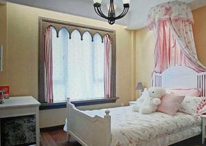 儿童房粉色系床饰设计