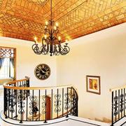 美式简约风格原木楼梯装饰