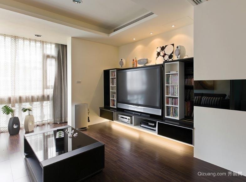 Black&White 60平米时尚小户型一居室装修设计效果图