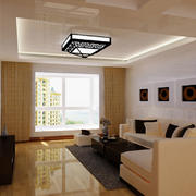 90平米房屋简约客厅吊顶装饰