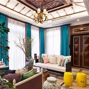 别墅简约风格客厅效果图