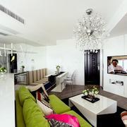 小户型简约风格客厅背景墙装饰