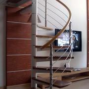 简约风格跃层螺旋式楼梯