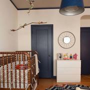 美式简约风格儿童房婴儿床装饰