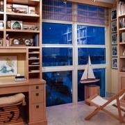 简约风格原木书房装饰