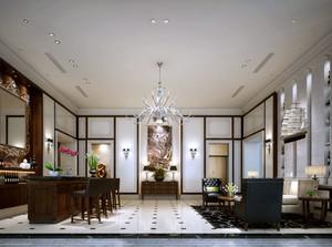 奢华风格硬线条海景别墅客厅装饰