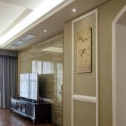 两室一厅简欧风格客厅背景墙