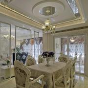 欧式奢华客厅玻璃隔断