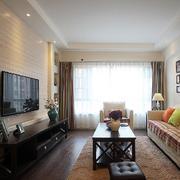 两室一厅简约客厅沙发装饰