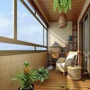 东南亚风格原木阳台装饰