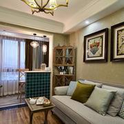 两室一厅简约风格沙发设计