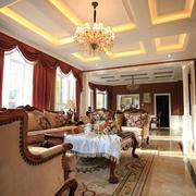 美式简约风格客厅石膏板装饰