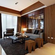 小户型中式客厅镜饰装饰