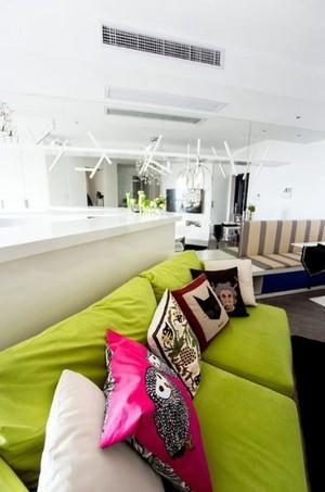 恰到好处缤纷清新的50平米一室一厅小户型装修效果图