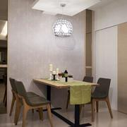单身公寓简约风格餐厅灯饰装饰