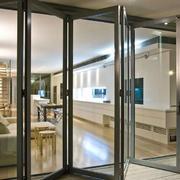 后现代风格厨房玻璃透明门饰