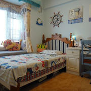 地中海风格儿童房背景墙装饰