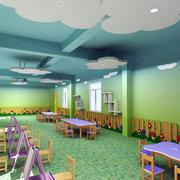 幼儿园简约风格吊顶效果图