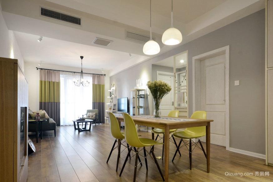 内外通透,贴近自然的现代北欧两室一厅家装效果图