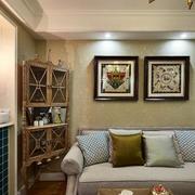 两室一厅简约风格客厅灯饰装饰